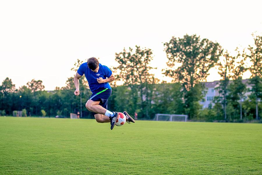 Soccer Player on Soccer field