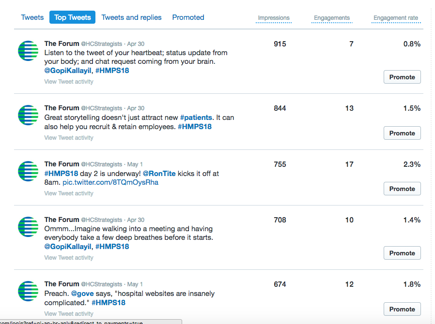 5 @hcstrategists tweets from the Summit