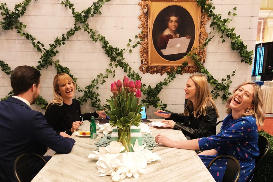 Julia, Logan, Kristen, and Alyssa at HMPS18