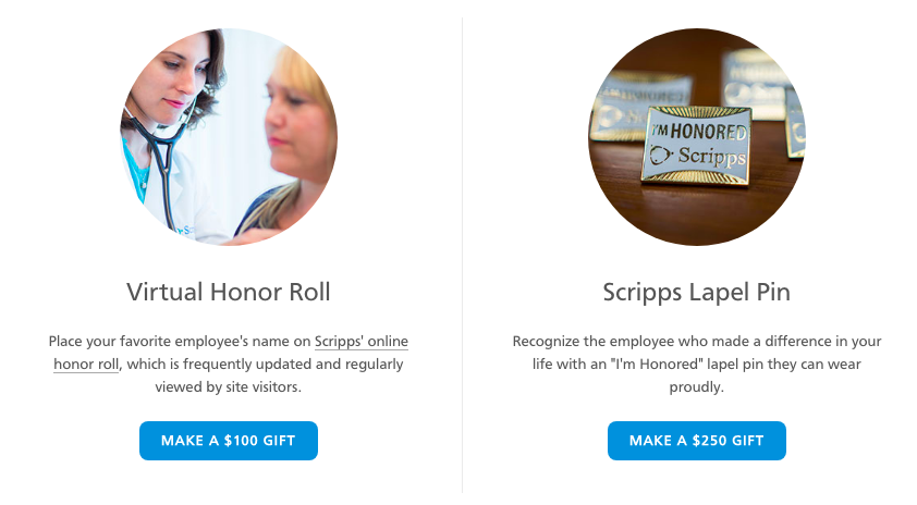 Scripps Honor Roll and Lapel Pin