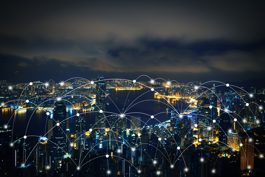 Integration of lighted Network at night
