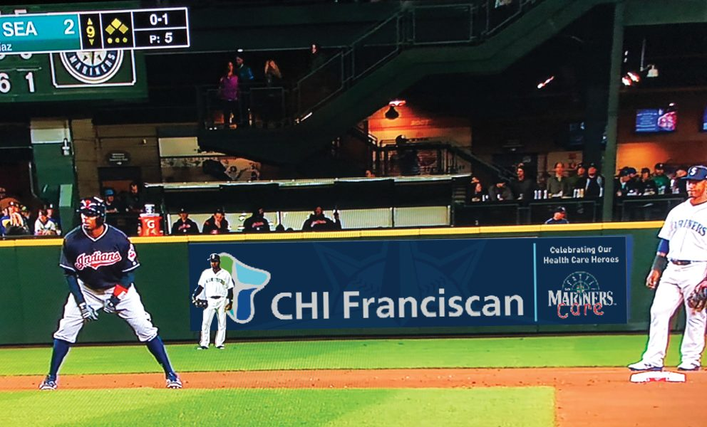 Seattle Mariners CHI Franciscan TV Signage